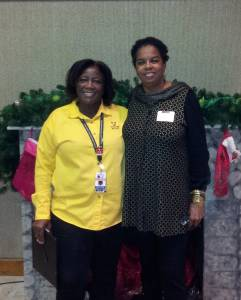 Brenda McAfee & Caroly J Hudson Volunteering At Victims Relief Min. Holiday Event