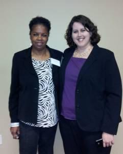 Carolyn J Hudson & Katy Perkins At Training 2014