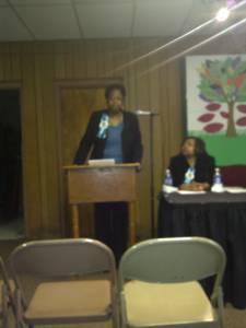 Carolyn J Hudson Speaking At Ferguson Rd Initiative 2011 (2)