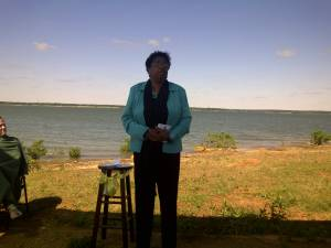 Carolyn J Hudson Speaking At Save Event - Flower Mound 2011a