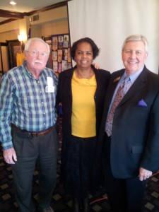 Carolyn J Hudson & Greg Gerendas At Speaking At Kiwanis Club Meeting