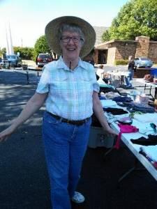 Fran, sweet volunteer from New Life Bible