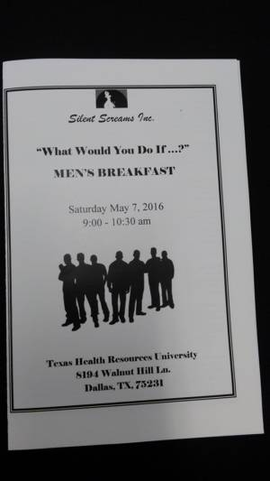 """Men's Breakfast """"What Would You Do If...?"""" 2016"""